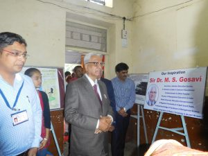 Visit of Sir.Dr.M.S.Gosavi for Poster Competition