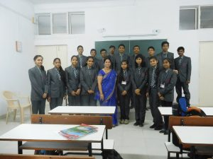 Students of A Division with Prof. P.A.Pethkar