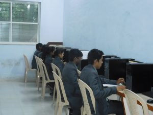 Students performing practicals in Computer Center