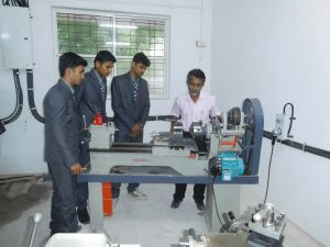 Students performing practicals in Workshop