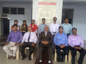 Staff of Sir.Dr.M.S.Gosavi Polytechnic with Hon.Sir.Dr.M.S.Gosavi during his visit to college