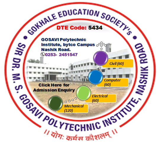 Gosavi Polytechnic is One of the Best Diploma College.